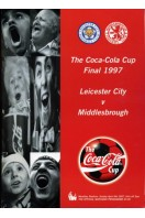 The Coca-Cola Cup Final 1997 Official Matchday Programme : Leicester City v Middlesborough (SIGNED BY JOHN HENDRIE)
