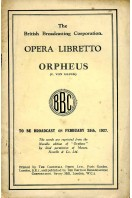 Opera Libretto : Orpheus