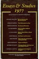 Essays & Studies 1977
