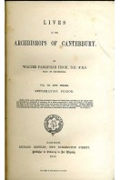 Lives of the Archbishops of Canterbury : New Series Volume III - Reformation Period (Volume VIII)