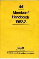 AA Members Handbook 1982/83