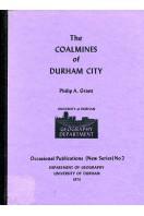The Coalmines of Durham City