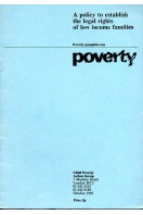Poverty : A Policy to Establish the Legal Rights of Low Income Families