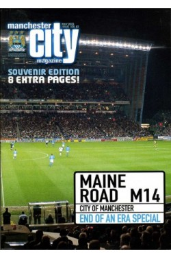 Manchester City Magazine : Souvenir Edition - Maine Road M14 - End of an Era : May 2003 - Issue 105