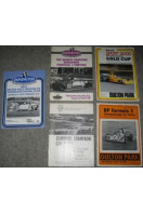 Five Motor Racing Race Programmes