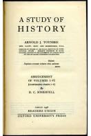 A Study of History : Abridgement of Volumes I-VI