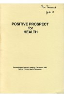 Positive Prospect for Health (Signed by one of Authors)