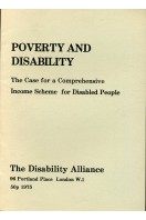Poverty and Disability