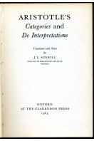 Aristotle's Categories and De Interpretatione