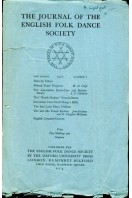 The Journal of the English Folk Dance Society : Second Series No 1 : 1927