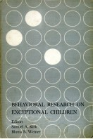 Behavioral Research on Exceptional Children