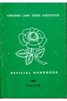 Yorkshire Lawn Tennis Association Official Handbook 1983