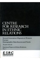 Second Generation Migrants in Western Europe: Demographic Data Sources and Needs (Statistical Papers in Ethnic Relations No 1)