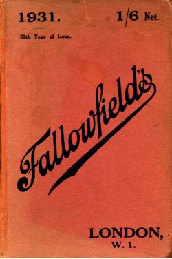 Fallowfield's Photographic Annual.1931