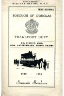 80th Anniversary Horse Trams : Borough of Douglas 1956 : Souvenir Brochure