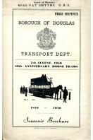 80th Anniversary Horse Trams : Borough of Douglas 1956 : Souvenir Brochure
