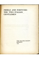 Fidele and Fortunio : The Two Italian Gentlemen
