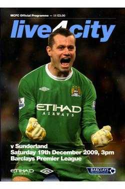MCFC Official Programme : v Sunderland - Saturday 19 December 2009