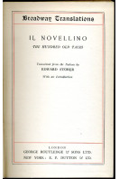 Il Novellino : The Hundred Old Tales