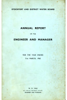 Stockport and District Water Board : Annual Report of the Engineer and Manager 1963