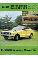 Workshop manual No 137 for Datsun 1300, 1400, 1600, 1800 from 1969 and Bluebird 160B, 180B from 1972