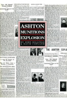 Ashton Munitions Explosion 1917