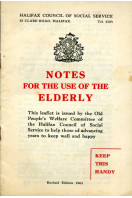 Notes for the Use of the Elderly