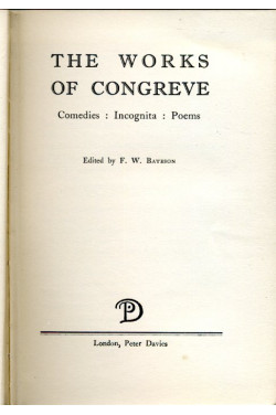 The Works of Congreve