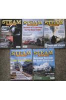 Steam Railway Magazine (5 issues) 2001 No 256, 2002 Nos 267, 268, 270, 275