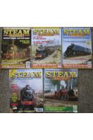 Steam Railway Magazine (5 issues) 1992 No 145, 149, 1994 Nos 167, 176, 1995 No, 184