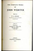 The Complete Works of John Webster : Voume IV
