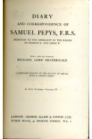 Diary and Correspondence of Samuel Pepys F. R. S.: Secretary to the Admiralty in the Reigns of Charles II. And James II.- Volume IV