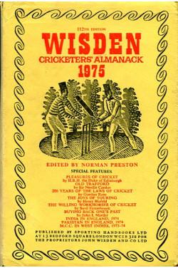 Wisden Cricketers' Almanack 1975