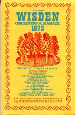 Wisden Cricketers' Almanack 1973