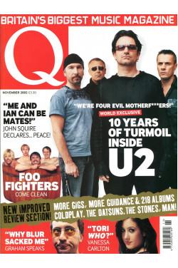 Q Music Magazine : November 2002 : U2 Front Cover