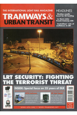 Tramways & Urban Transit - The International Light Rail Magazine  No 901 January 2013 plus DLR Report