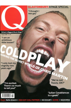 Q Music Magazine : August 2002 : Coldplay/Chris Martin Front Cover