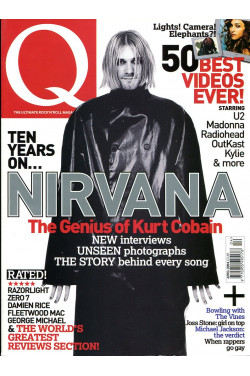Q Music Magazine : April 2004 : Kurt Cobain on Front Cover