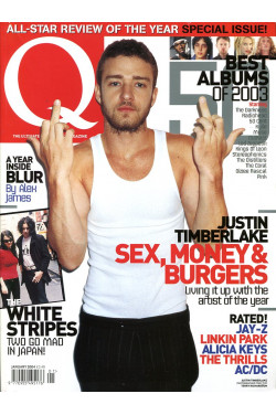 Q Music Magazine : January 2004  : Justin Timberlake Front Cover