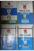 Four Rugby Football Union Programmes : England v France