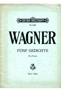 Five Poems (Funf Gedichte) Edition Breitkopf