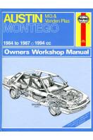 Austin, M.G.and Vanden Plas Montego 1984-87 Owner's Workshop Manual