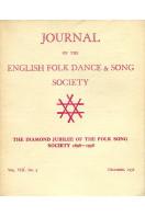 Journal of the English Folk Dance & Song Society : Vol VIII No 3 - Dec 1958