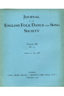 Journal of the English Folk Dance and Song Society Volume III No 4  : December 1939