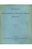 Journal of the English Folk Dance and Song Society Volume I No 1  : December 1932