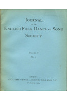 Journal of the English Folk Dance and Song Society Volume I No 3  : December 1934