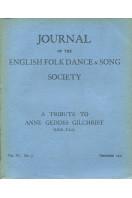 Journal of the English Folk Dance & Song Society : Vol VI No 3 - Dec 1951