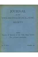 Journal of the English Folk Dance & Song Society : Vol VI No 2 - Dec 1950 containing Reprint of 1902 Edition Part 2