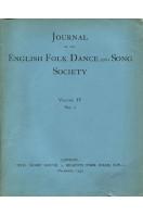 Journal of the English Folk Dance & Song Society : Vol IV No 1 - Dec 1940