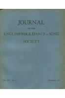 Journal of the English Folk Dance & Song Society : Vol VII No 1 - Dec 1952